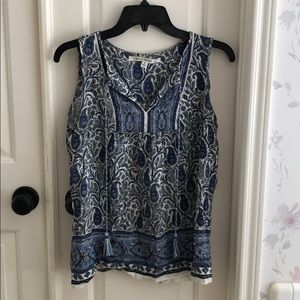 Blue paisley blouse
